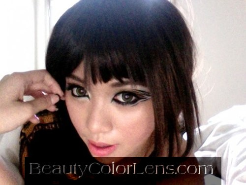 GEO ALICE PURE GREEN WT-A53 NATURAL GREEN CONTACT LENS
