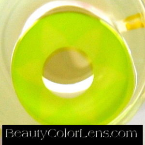 GEO SF-10 CRAZY LENS FLOWER LEAF YELLOW GREEN HALLOWEEN CONTACT LENS