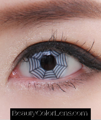 GEO SF-12 CRAZY LENS SPIDER WEB HALLOWEEN CONTACT LENS
