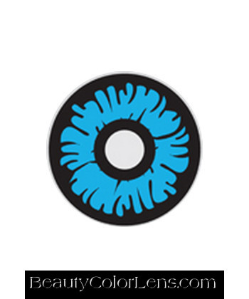 GEO SF-18 CRAZY LENS ABYSS BLUE EYE HALLOWEEN CONTACT LENS