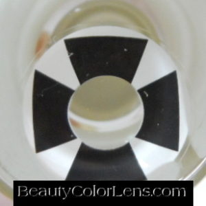 GEO SF-51 CRAZY LENS IRON CROSS HALLOWEEN CONTACT LENS