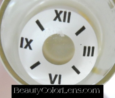 GEO SF-52 CRAZY LENS CLOCK TIME HALLOWEEN CONTACT LENS