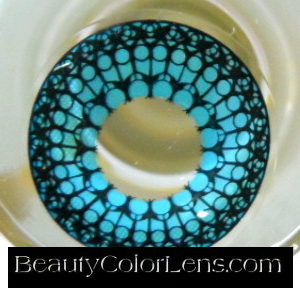 GEO SF-54 CRAZY LENS BLUE HOLY CATHEDRAL HALLOWEEN CONTACT LENS