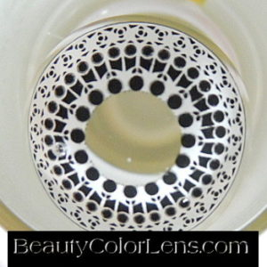 GEO SF-55 CRAZY LENS WHITE HOLY CATHEDRAL HALLOWEEN CONTACT LENS