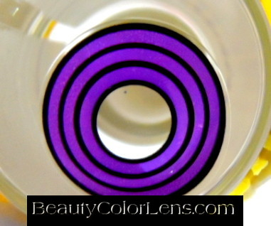 GEO SF-77 CRAZY LENS VIOLET SPIRAL OBITO RINNEGAN HALLOWEEN CONTACT LENS