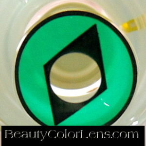 GEO SF-79 CRAZY LENS GREEN DIAMOND HALLOWEEN CONTACT LENS