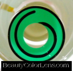 GEO SF-80 CRAZY LENS GREEN HYPNOTIZE HALLOWEEN CONTACT LENS