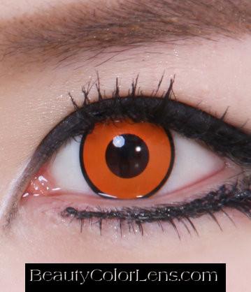 GEO SF-87 CRAZY LENS ORANGE PUMPKIN HALLOWEEN CONTACT LENS