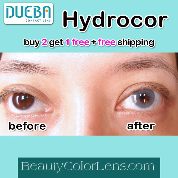 DUEBA HIDROCOR CRYSTAL BLUE CONTACT LENS