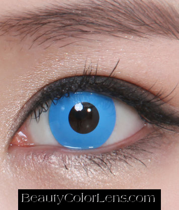 GEO CP-F5 CRAZY LENS SOLID BLUE EYES HALLOWEEN CONTACT LENS
