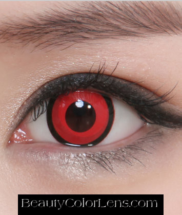 GEO CP-S6 CRAZY LENS VOLTURI VAMPIRE RED EYES TWILIGHT HALLOWEEN CONTACT LENS