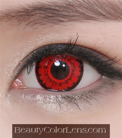 GEO CP-S7 CRAZY LENS RED TWILIGHT VOLTURI VAMPIRE HALLOWEEN CONTACT LENS