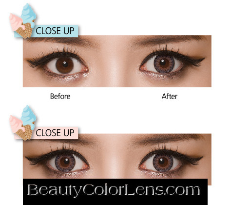 GEO EYES CREAM RAYRAY GRAY XMU-A15 COLORED LENSES