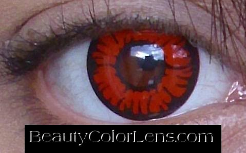 GEO SF-20 CRAZY LENS TWILIGHT VOLTURI VAMPIRE RED HALLOWEEN CONTACT LENS