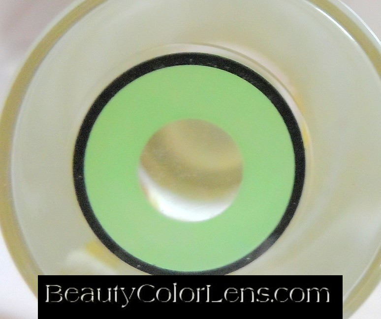 GEO SF-35 CRAZY LENS GREEN BLACK OUTLINE HALLOWEEN CONTACT LENS