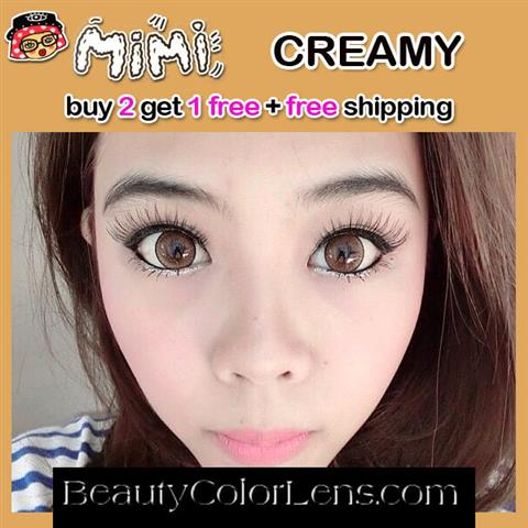 MIMI CREAMY BROWN CONTACT LENS