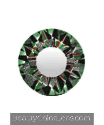 VASSEN DIAMOND 3 TONE GREEN CONTACT LENS