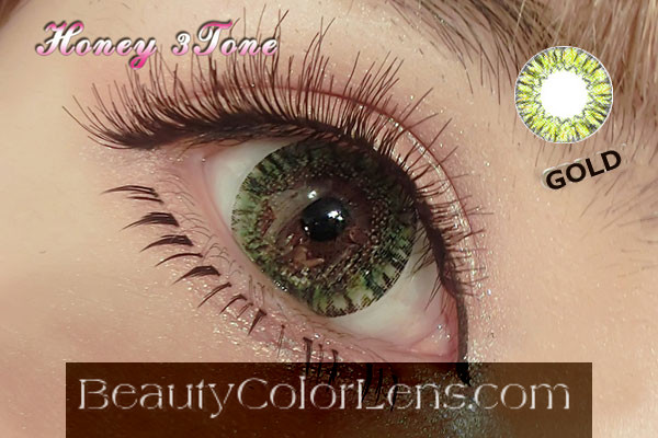 VASSEN HONEY GOLD CONTACT LENS