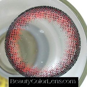 VASSEN BIG SEESHELL RED CONTACT LENS