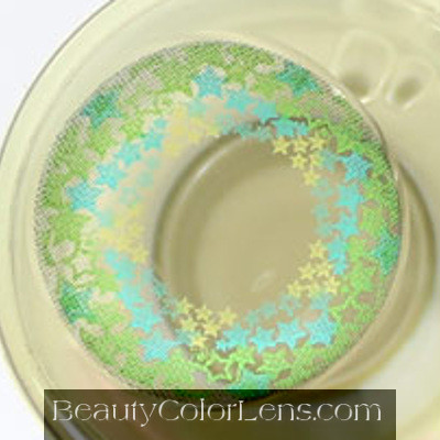 VASSEN TWINKLE STAR GREEN CONTACT LENS