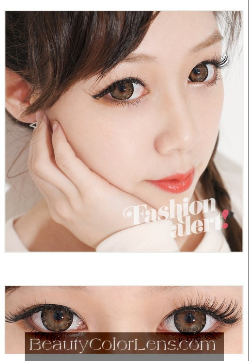 DUEBA PINKY PEARL BROWN CONTACT LENS