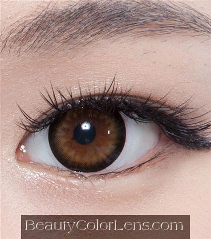 DUEBA PURE YELLOW BROWN CONTACT LENS