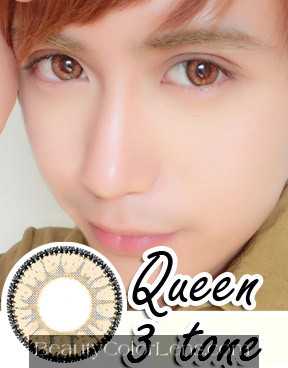 DUEBA QUEEN 3 TONE BROWN CONTACT LENS