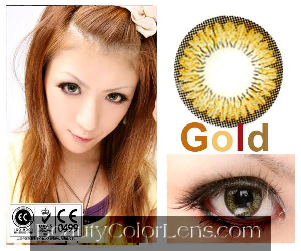 DUEBA SUNFLOWER GOLD CONTACT LENS