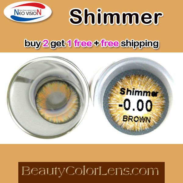 NEO VISION SHIMMER BROWN CONTACT LENS