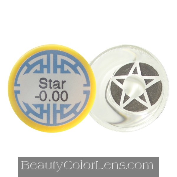 DUEBA CRAZY BLACK STAR HALLOWEEN CONTACT LENS