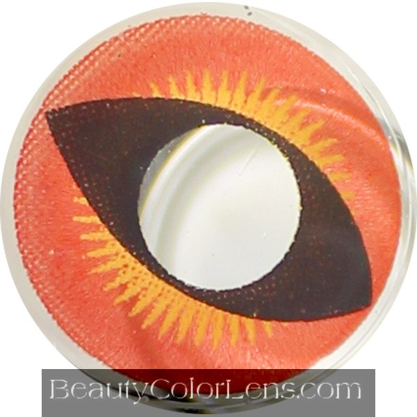 DUEBA CRAZY RED DRAGON HALLOWEEN CONTACT LENS