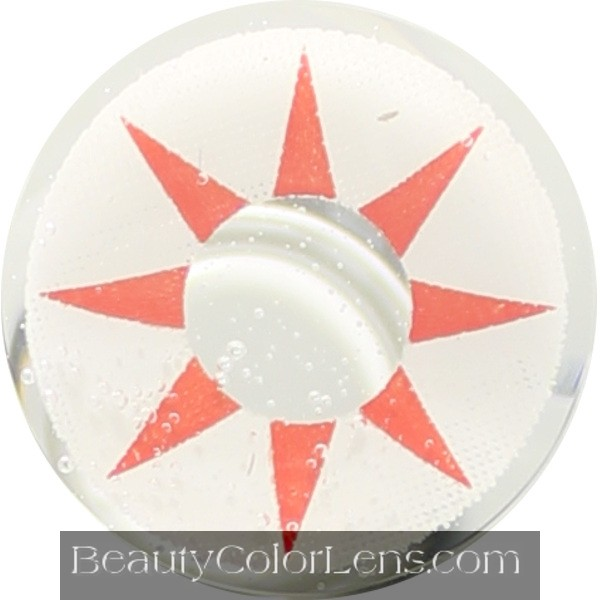 DUEBA CRAZY RED SUN HALLOWEEN CONTACT LENS