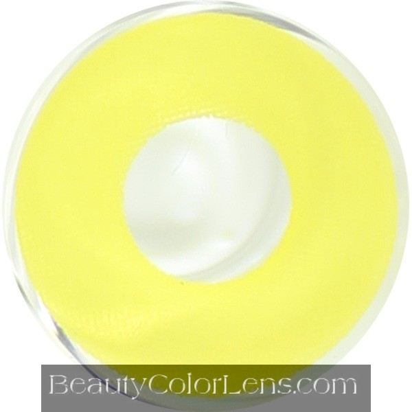 DUEBA CRAZY YELLOW MOON HALLOWEEN CONTACT LENS
