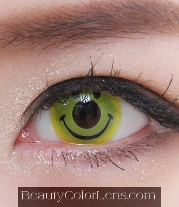GEO SF-09 CRAZY LENS HAPPY SMILEY HALLOWEEN CONTACT LENS