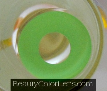 GEO CP-F4 CRAZY LENS SOLID GREEN MONSTER HALLOWEEN CONTACT LENS