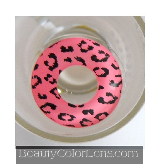 GEO SF-64 CRAZY LENS LEOPARD PINK HALLOWEEN CONTACT LENS
