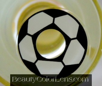 GEO SF-07 CRAZY LENS SOCCER FAN FOOTBALL HALLOWEEN CONTACT LENS