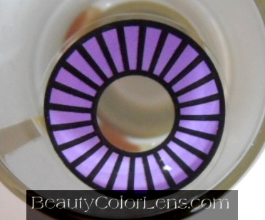 GEO SF-15 CRAZY LENS SPECIAL HYPNOTIC WHEEL VIOLET HALLOWEEN CONTACT LENS