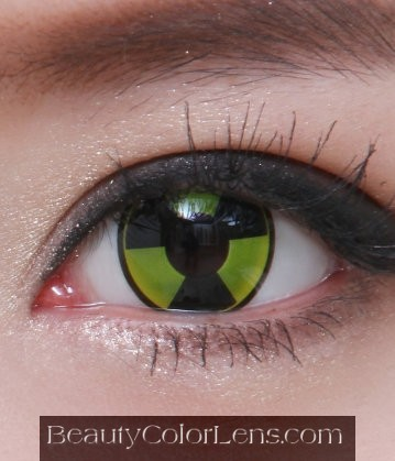 GEO SF-37 CRAZY LENS HAZARD ZONE HALLOWEEN CONTACT LENS