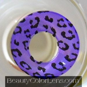 GEO SF-86 CRAZY LENS PURPLE LEOPARD SPECIAL EFFECT LENS HALLOWEEN CONTACT LENS