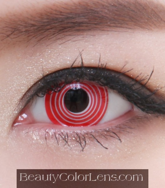 GEO SF-06 CRAZY LENS RED SPIRAL HALLOWEEN CONTACT LENS