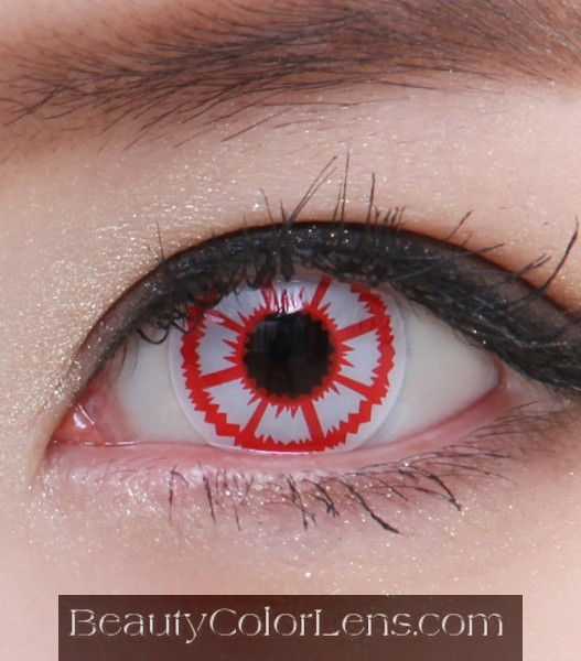 GEO SF-11 CRAZY LENS RED BLOOD ZOMBIE HALLOWEEN CONTACT LENS