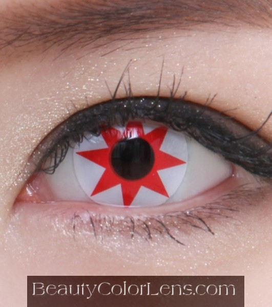 GEO SF-21 CRAZY LENS RED SHURIKEN NINJA HALLOWEEN CONTACT LENS