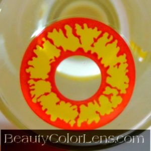 GEO SF-74 CRAZY LENS DEVIL RED YELLOW HALLOWEEN CONTACT LENS