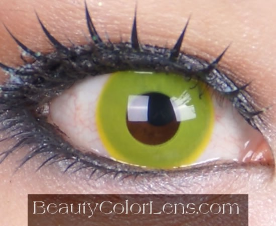 GEO CP-F2 CRAZY LENS SOLID YELLOW HALLOWEEN CONTACT LENS