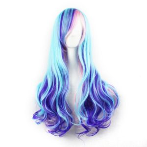 70cm Cosplay wig Beauty Mixed color Synthetic Long Curly Cosplay Anime Wig