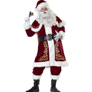 Adults Red Christmas Clothes Santa Claus Costume