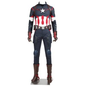 Age of Ultron Captain America Cosplay Costume Steve Rogers Outfits Adult Superhero Costume