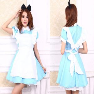 Alice In Wonderland Costume Lolita Dress Maid Cosplay Fantasia Carnival Costumes For Women Adult Kid Children
