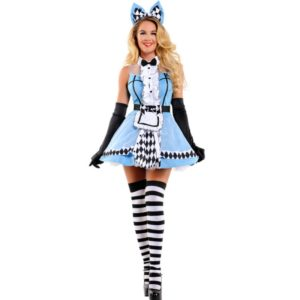 Alice In Wonderland Fancy Lolita Dress Party Costume Women Fancy Maid Dress Sleeveless